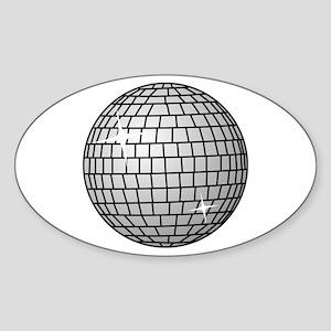 70's Disco Ball Sticker (Oval)