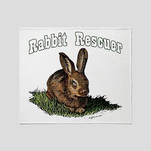 Rabbit Rescuer Throw Blanket