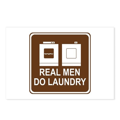 Real Men Do Laundry Postcards (Package of 8)
