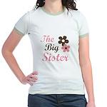 big sister pink brown Jr. Ringer T-Shirt