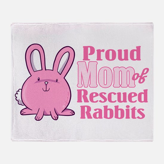 Rescued Rabbits Mom Throw Blanket
