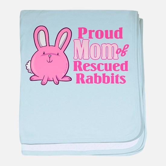 Rescued Rabbits Mom baby blanket