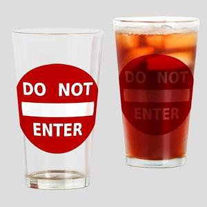 Do Not Enter Sign Pint Glass