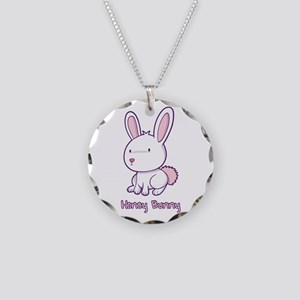 Honey Bunny Necklace Circle Charm