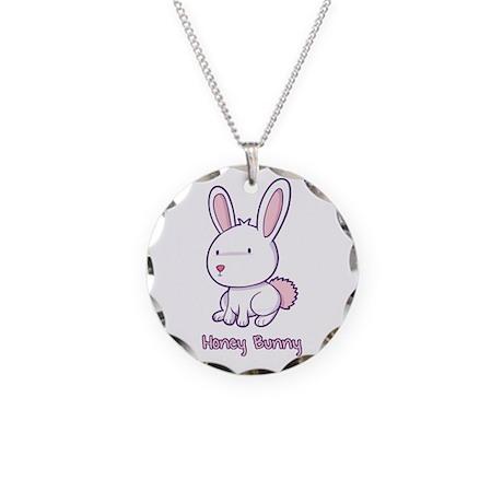 Honey Bunny Necklace Circle Charm