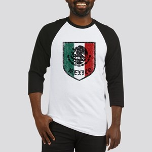 Mexican Flag Crest Baseball Jersey