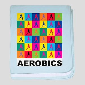 Pop Art Aerobics baby blanket