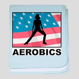 Aerobics In America baby blanket