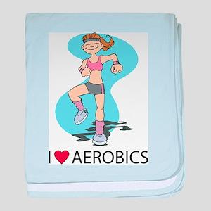 I Love Aerobics baby blanket
