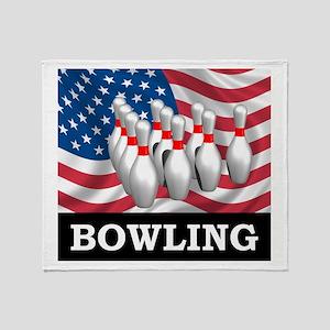 American Bowling Throw Blanket