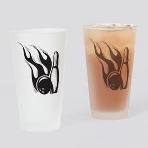 Flaming Skittle Pint Glass