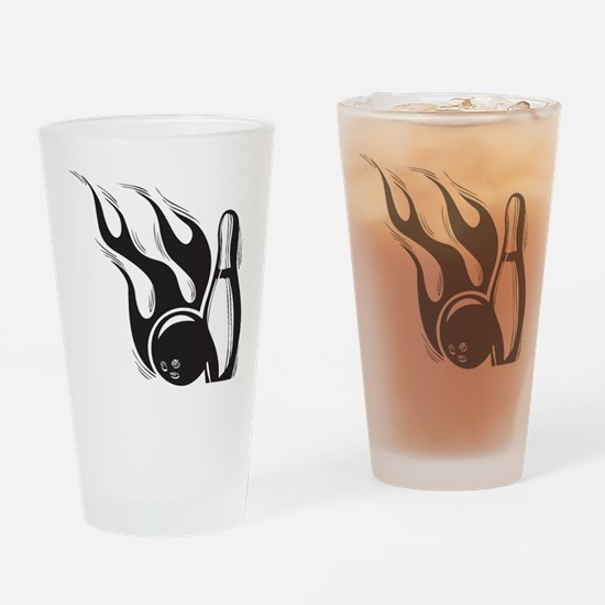 Flaming Skittle Pint Glass