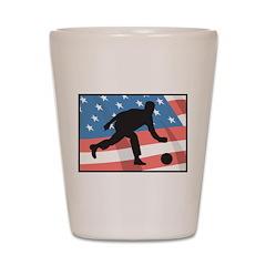 Bowling In America Shot Glass