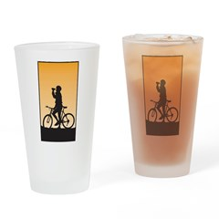 Cycling Pint Glass