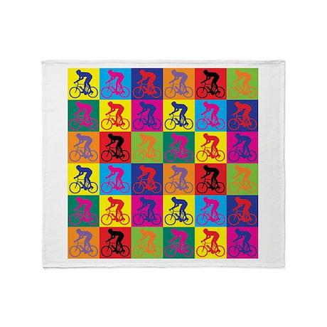 Pop Art Cycling Throw Blanket