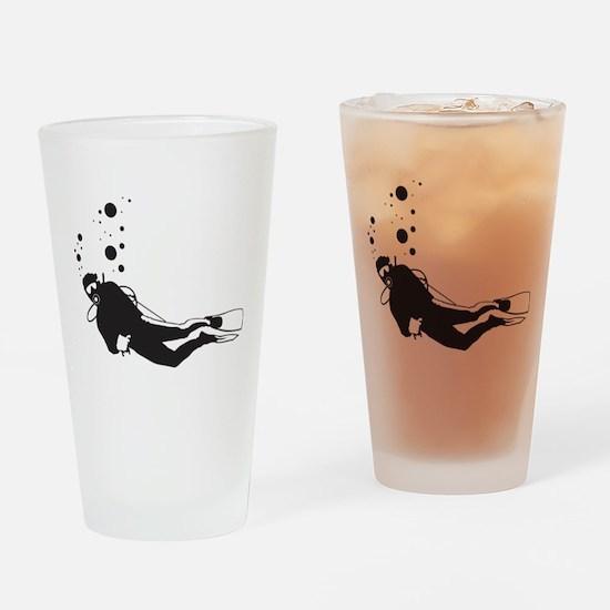 Scuba Diving Pint Glass