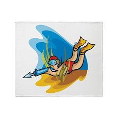 Skin Diver Throw Blanket