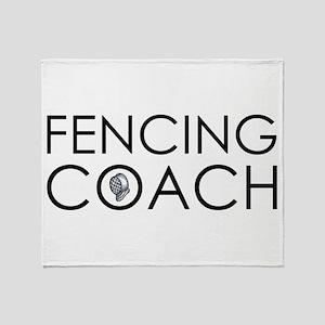 Fencing Coach Throw Blanket