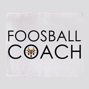 Foosball Coach Throw Blanket