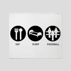 Eat Sleep Foosball Throw Blanket