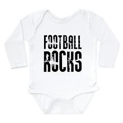 Football Rocks Long Sleeve Infant Bodysuit