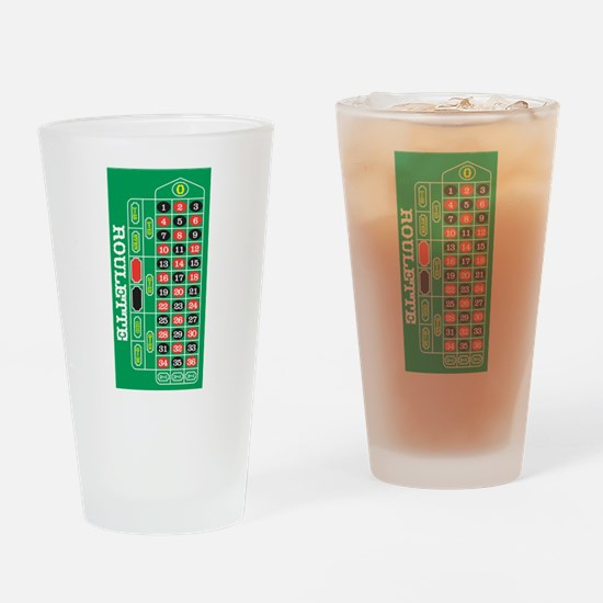 Roulette Pint Glass