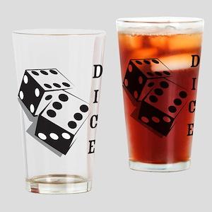 Retro Dice Pint Glass