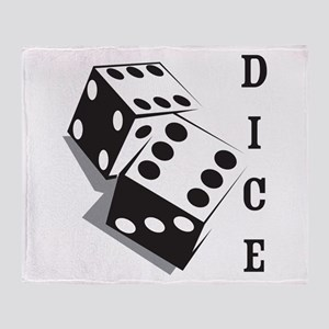 Retro Dice Throw Blanket