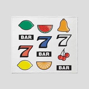 Slot Machine Throw Blanket