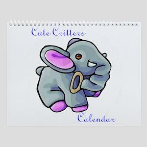 Cute Critters Wall Calendar