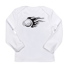 Flaming Golf Ball Long Sleeve Infant T-Shirt