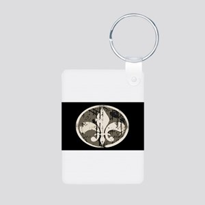 Fleur De Lis 1: Aluminum Photo Keychain