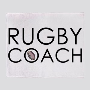 Rugby Coach Throw Blanket