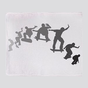 Skateboarding Throw Blanket