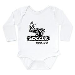 Soccer Hooligan Long Sleeve Infant Bodysuit