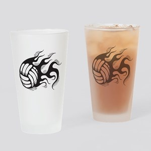 Flaming Volleyball Pint Glass