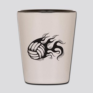Flaming Volleyball Shot Glass