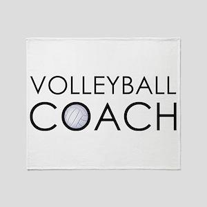 Volleyball Coach Throw Blanket