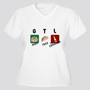 GTL Mexican Women's Plus Size V-Neck T-Shirt
