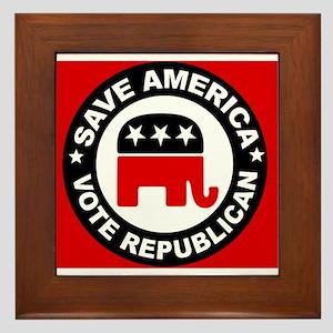 SAVE AMERICA Framed Tile