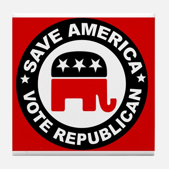 SAVE AMERICA Tile Coaster