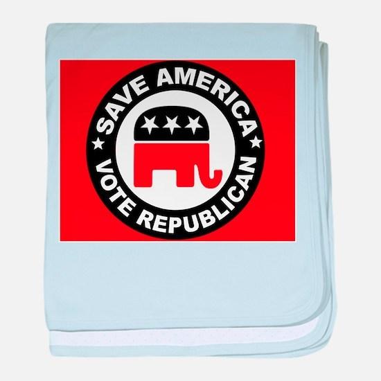 SAVE AMERICA baby blanket