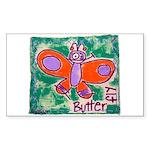 butterfly Sticker (Rectangle 50 pk)