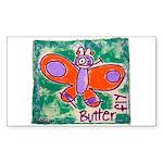 butterfly Sticker (Rectangle)