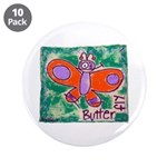 """butterfly 3.5"""" Button (10 pack)"""