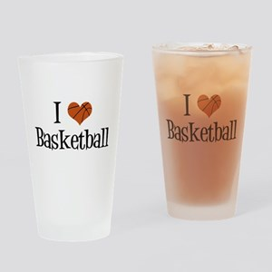 I Heart Basketball Drinking Glass