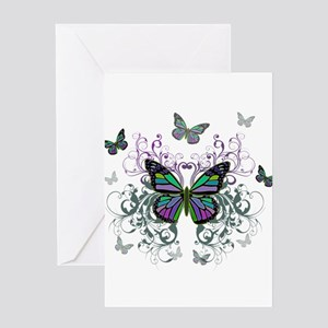 MultiColor Butterflies Greeting Card