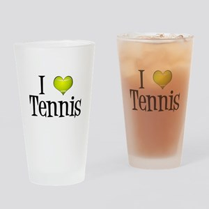 I Heart Tennis Drinking Glass