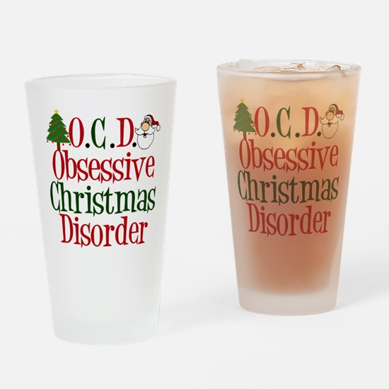 Christmas Crazy Drinking Glass