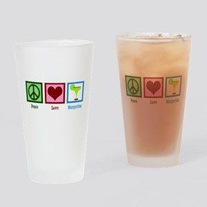 Peace Love Margaritas Drinking Glass